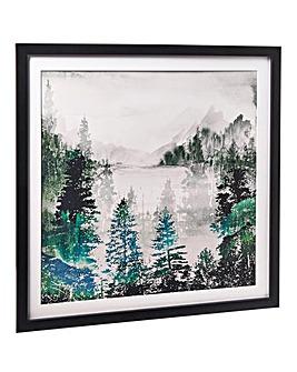 Arthouse Woods Lakeside Framed Print