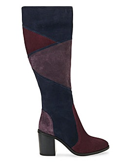 Joe Browns Suede Patchwork Boots Wide E Fit