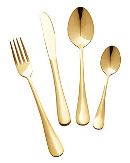Glamour 16 Piece Coloured Cutlery Set