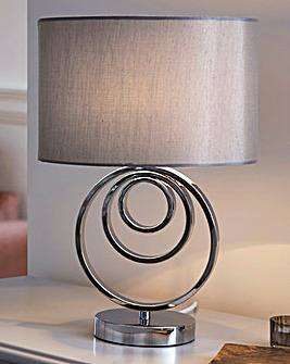 Hallam Chrome Metal Table Lamp