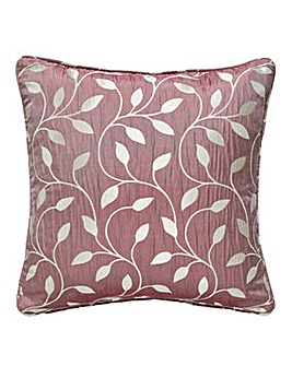 Leaf Trail Jaquard Filled Cushion