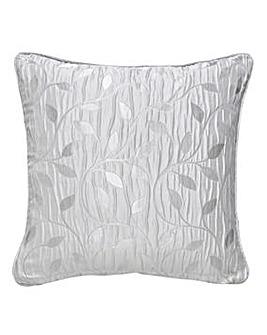 Leaf Trail Jaquard Metallic FiIled Cushion