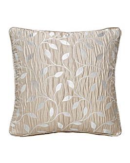 Leaf Trail Jaquard Filled Cushion