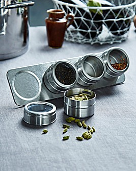 Stainless Steel Magnetic Spice Rack