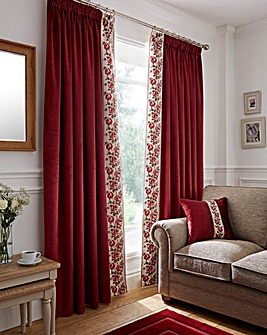 Rose Heavyweight Thermal Velvet Curtains
