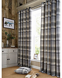 Highland Check Lined Curtains