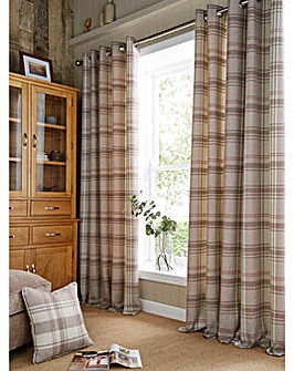 Highland Check Long Lined Curtains