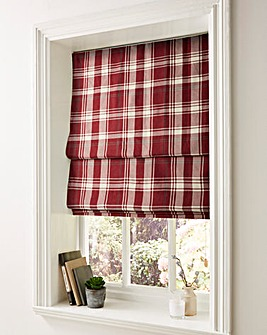 Highland Check Lined Roman Blinds