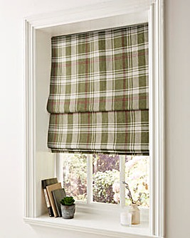Highland Check Roman Blinds