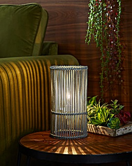 Erlina Wicker Bedside Table Lamp