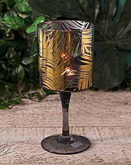 Gold Palm Leaf Tealight Holder 20cm