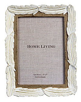 Home Living Feather Photo Frame 5 x 7