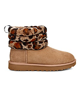Ugg Fluff Mini Quilted Leopard Standard D Fit