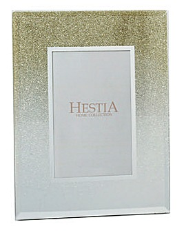 Glass Gold Glliter Photo Frame 5 x 7in