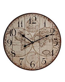 Hometime World Map Wall Clock