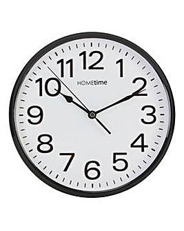 Hometime Plastic Wall Clock 10in