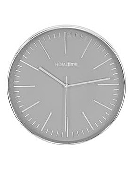 Hometime Silver Plastic Wall Clock