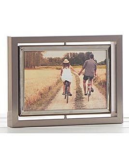 Dark Silver Spin Frame 6x4