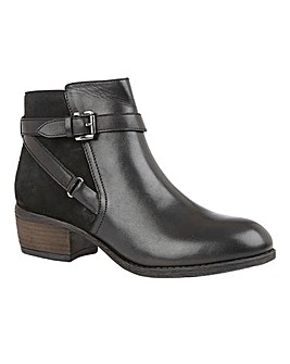 Lotus Dani Leather Buckle Ankle Boots Standard D Fit