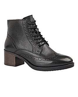 Lotus Amira Leather Lace Up Brogue Ankle Boots Standard D Fit
