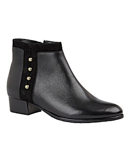 Lotus Rosa Leather Stud Ankle Boots Standard D Fit