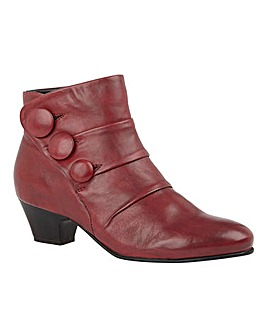 Lotus Prancer Leather Button Detail Ankle Boots Standard D Fit