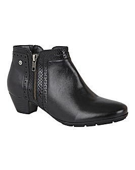 Lotus Dancer Side Zip Brogue Boots Standard D Fit