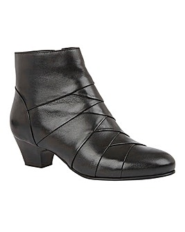 Lotus Tara Leather Panel Ankle Boots Standard D Fit