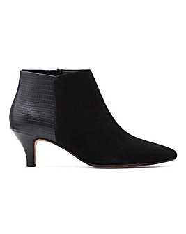 Clarks Linvale Suede Sea Kitten Heel Ankle Boots Standard D Fit