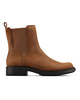 Clarks Orinoco 2 Top Leather Chelsea Boots Standard D Fit