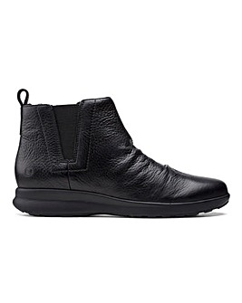 Clarks Un Adorn Leather Ankle Boots Standard D Fit
