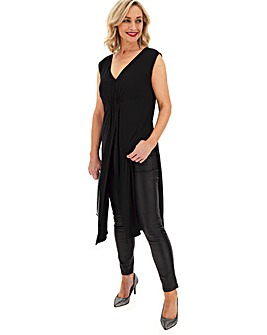 Black Sleeveless Maxi Tunic