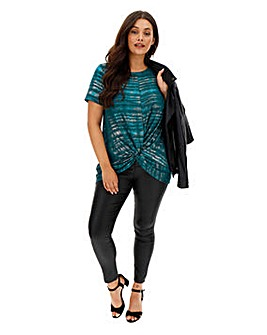 Teal Twist Hem Tunic