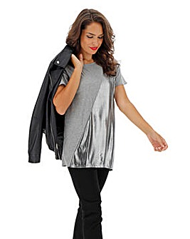Diagonal Metallic Tunic