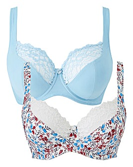 2 Pack Laura Full Cup Wired Bras
