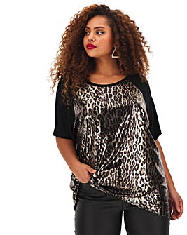 Metallic Raglan Tunic