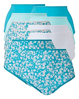 10 Pack Floral Full Fit Briefs