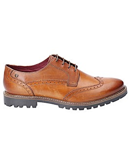 Base London Grundy Washed Lace Up Shoe