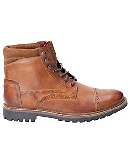 Base London Quail Burnished Brogue Boot