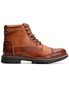 Base London Quail Burnished Lace Up Brogue Boot