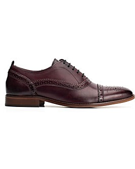 Base London Cast Washed Lace Up Brogue Shoe