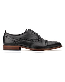 Base London Cast Waxy Brogue Shoe