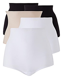 5Pack Black/White/Blush Comfort Shorts