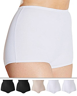 Naturally Close 5 Pack Black/White/Blush Comfort Shorts