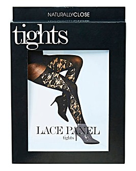 Naturally Close Lace Panel Tights