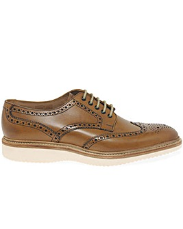 Loake Cobra Wide Fit Brogue Derby Shoes