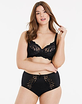Lily Single Wireless Black Bralette
