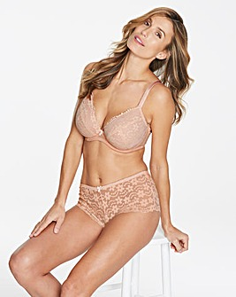 Pretty Secrets Daisy Blush Lace Plunge Wired Bra