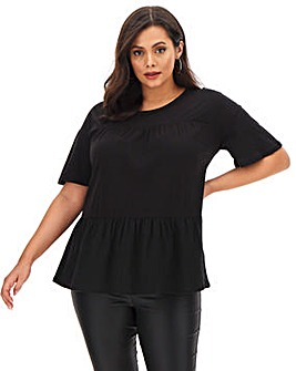 Black Tiered Short Sleeve T-Shirt