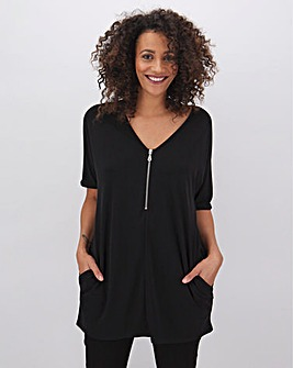 Black Zip Tunic